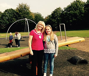 frodsham mayor councillor fran sutton with junior mayor jess capel