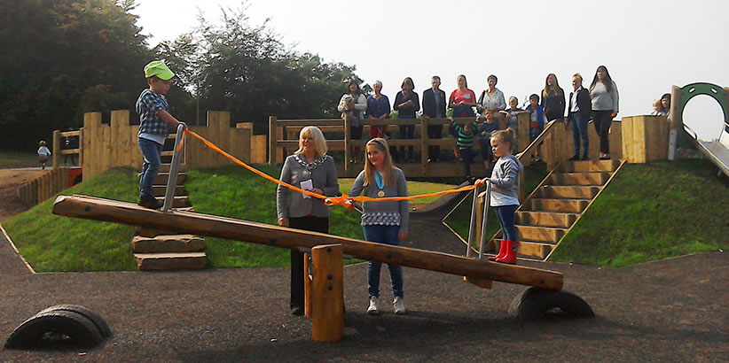 new play area churchfields frodsham opened by frodsham mayor councillor fran sutton junior mayor jess capel
