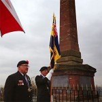 Remembrance day veterans at frodsham hill war memorial