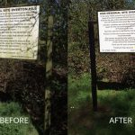 frodsham war memorial sign cleaning before after