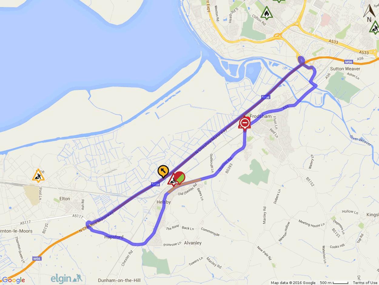 railway bridge repair road closer map july -2016 chester road frodsham