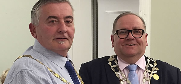 New Mayor of Frodsham, Cllr Mallie Poulton and New Deputy Mayor, Cllr Alan Oulton