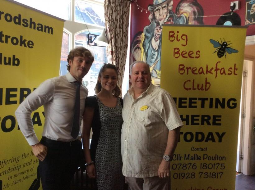 Matthew Darlington Frodsham Breakfast Club Lorna BIRA