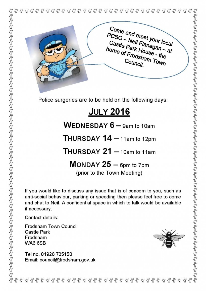 Police surgeries July 16-page-001