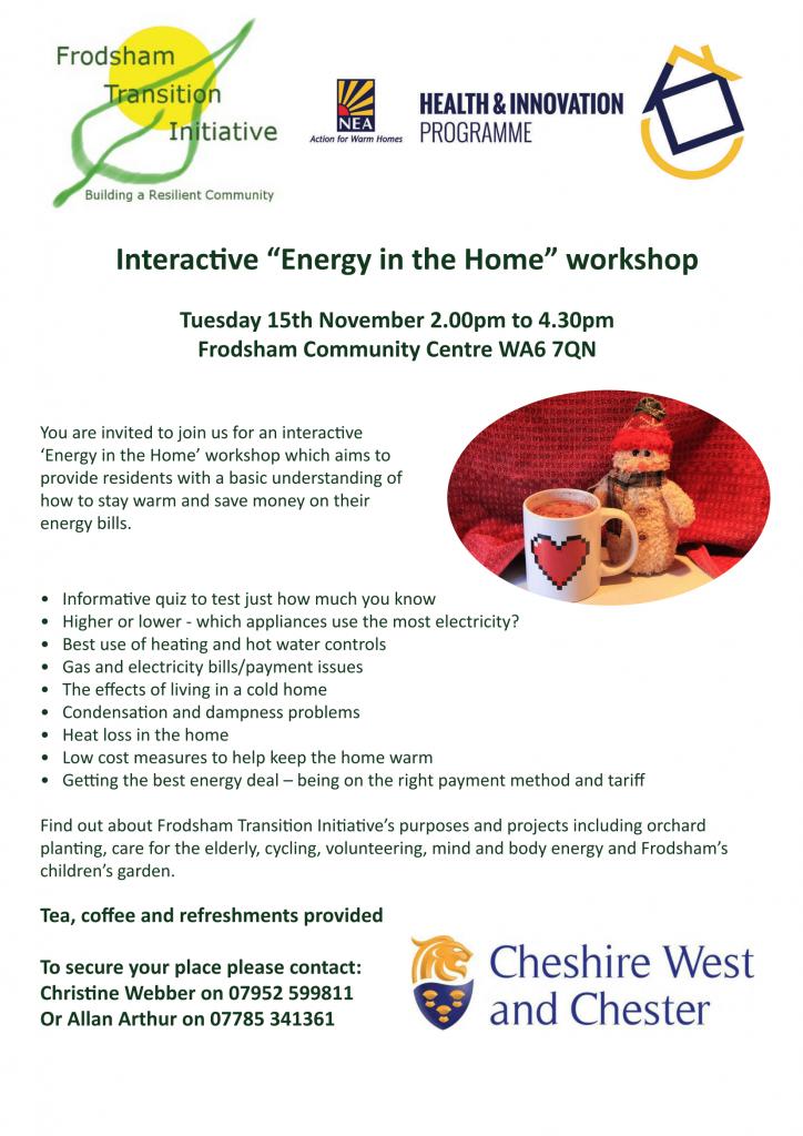 Flyer for workshop on 15 November 2016