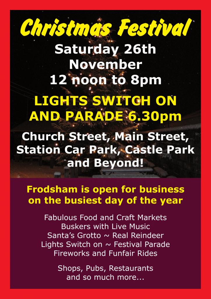 Frodsham Christmas Festival Poster