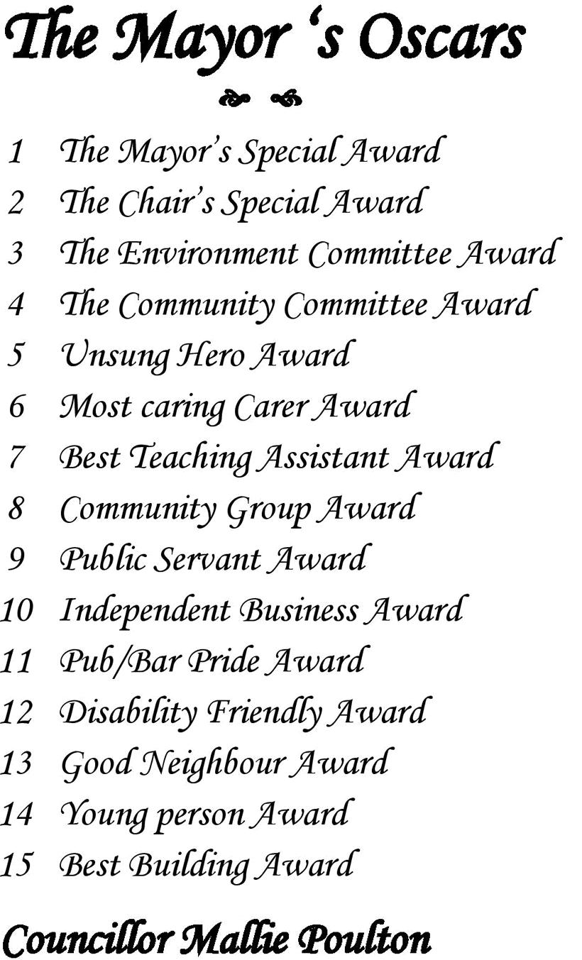 the mayors oscars 2016 list