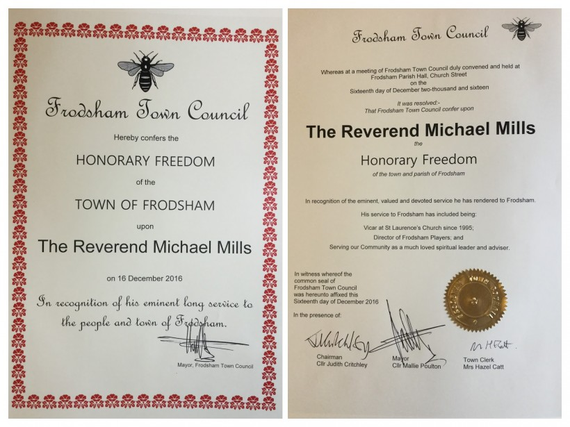 Honorary Freedom Certificate