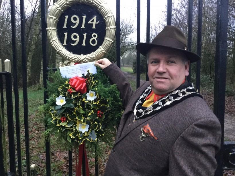 At the Memorial Gates
