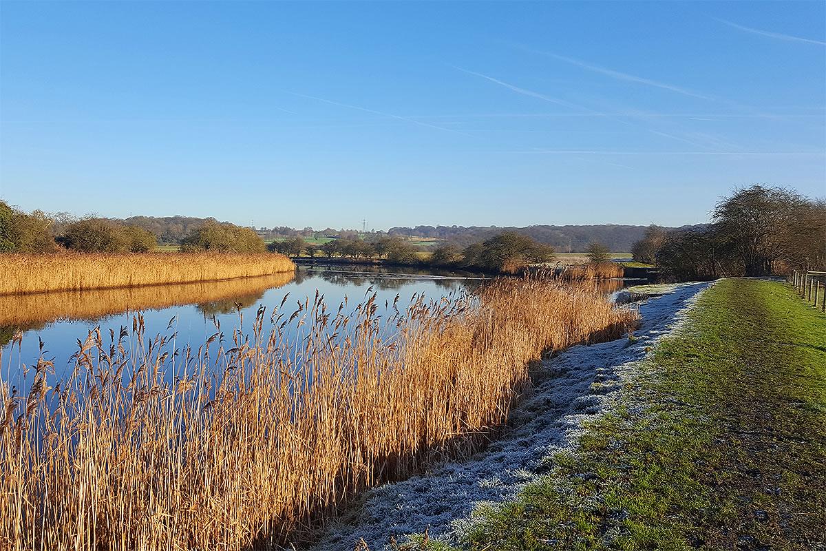 river weaver blue sky weaver valley blackamoor wood frodsham