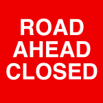 road ahead closed icon