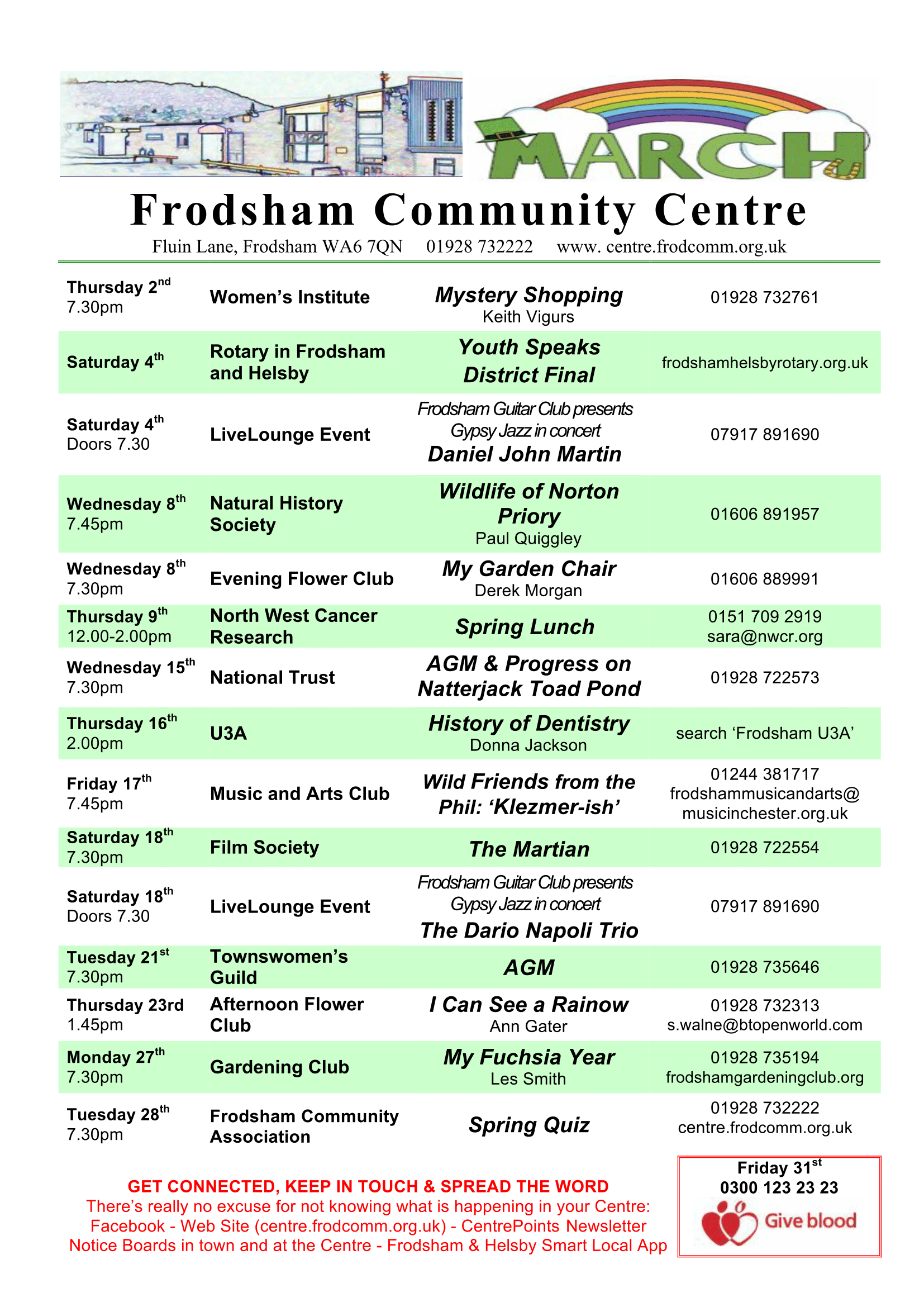 Image of community centre programme