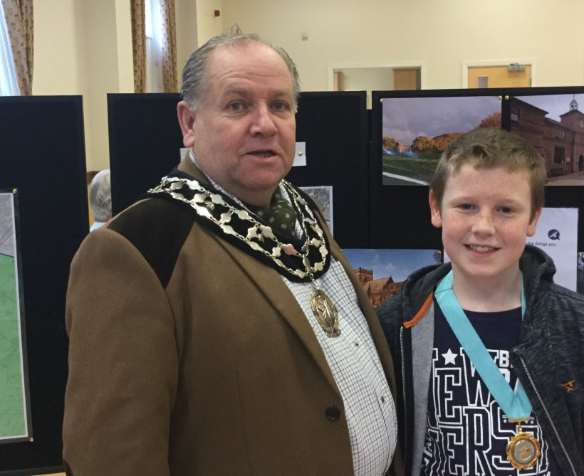 Mayor and Junior Mayor at teh Neighbourhood Plan event