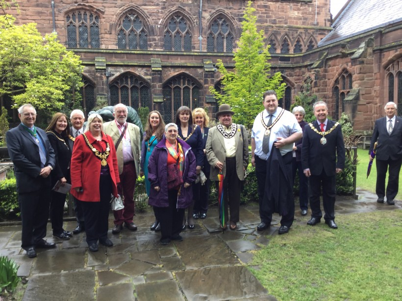 Group photo at Chester Cathedral