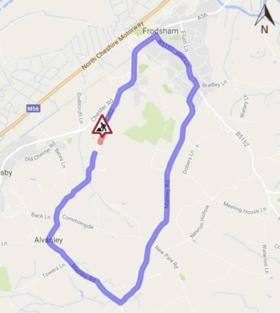 tarvin road frodsham repair diversion