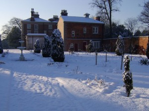 castle house castle park frodsham snow scene in 2014
