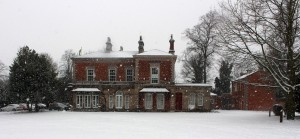 castle house frodsham snow scene in winter 2014