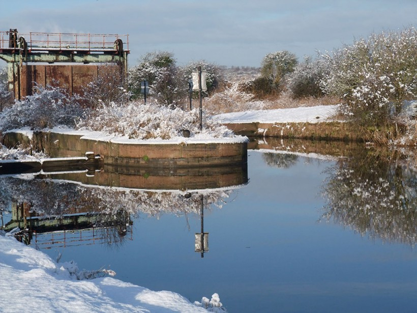 Frodsham Cut in the snow of 2014.