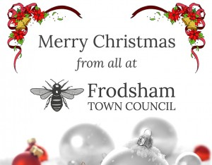 merry christmas on bahalf of frodsham town council