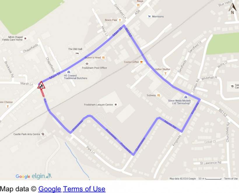 fountain lane closure diversion frodsham
