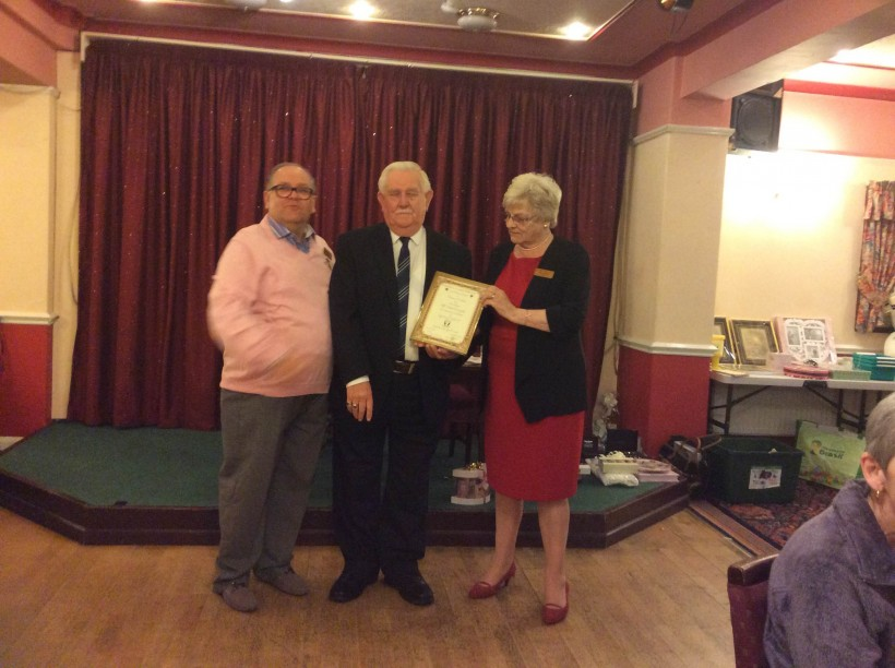 Frodsham District Stroke Club honouring Councillor Frank Pennington