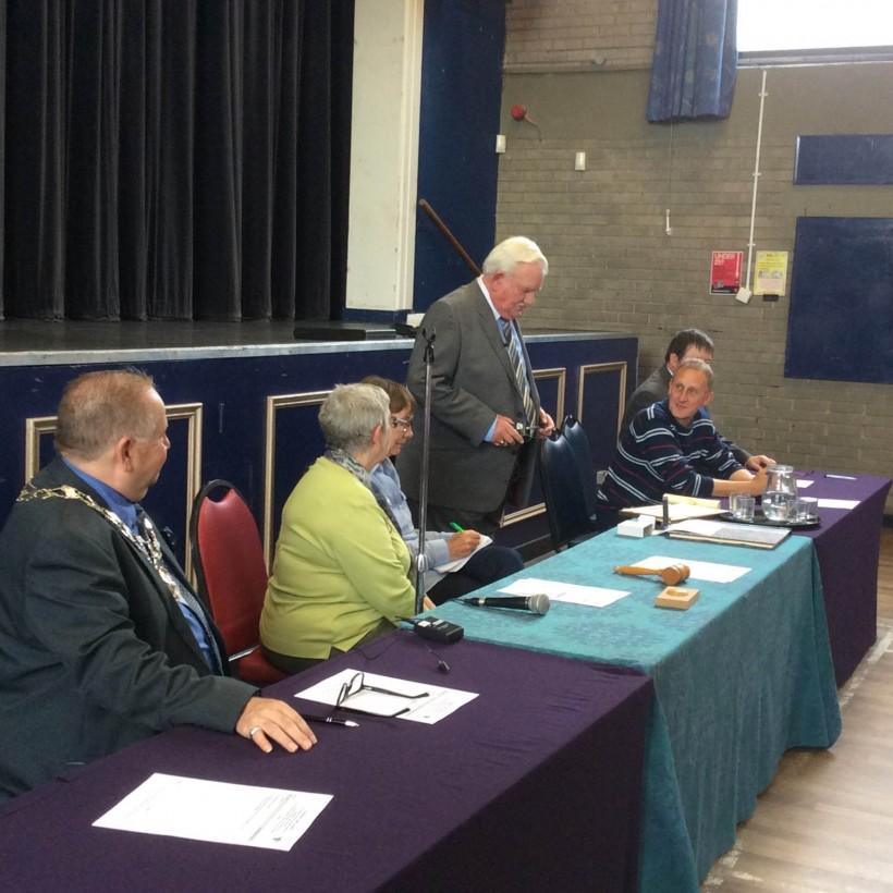 Councillor cake frodsham frank pennington