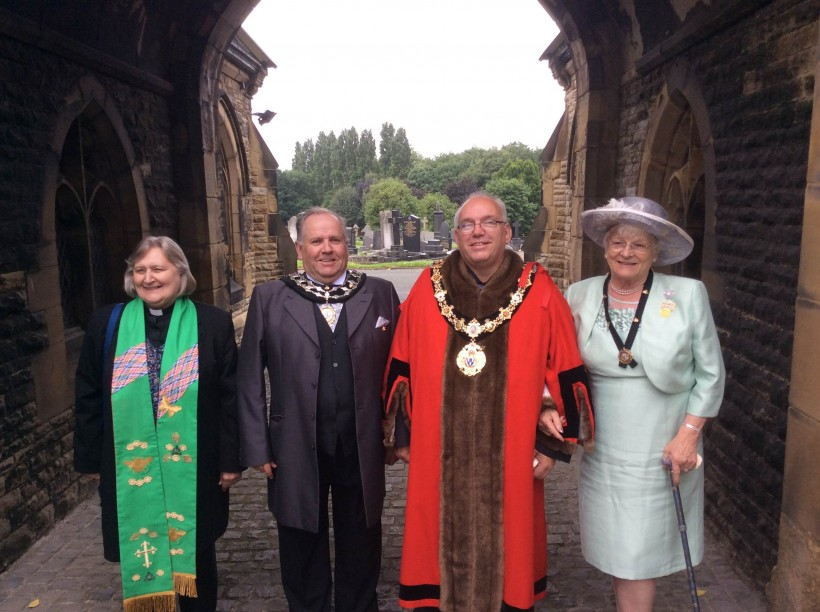 Mayor Mallie Poulton Northwich Civic Hall Rev Kath Willamson Mayors Chaplin