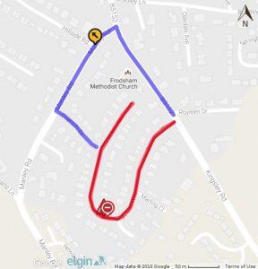 bracken way closed road works frodsham