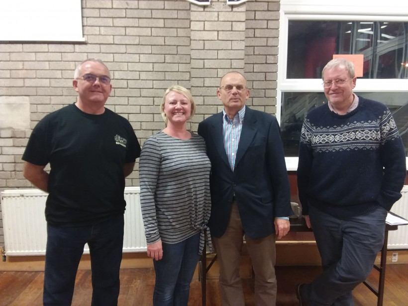 (Far left) Gary, DofE, (Left) Nicola, (Right) Rod, (Far left) David DofE