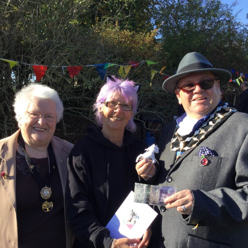 From L to R Mayor's consort Marjorie Rigby, xxx and Mayor Mallie Poulton at Spirit of the Herd Family Fun Day
