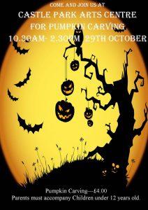halloween pumpkin carving castle park arts centre 2016