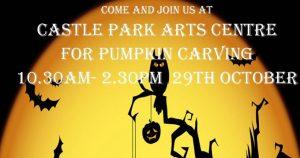 halloween pumpkin carving castle park arts centre 2016 fb