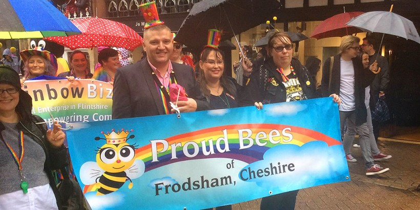 proud bees frodsham chester pride parade