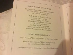Royal Family attendees