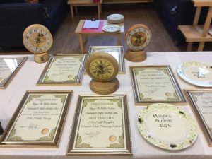 Award clocks and certificates