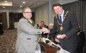 Mayor with Chair of Showmen's Guild