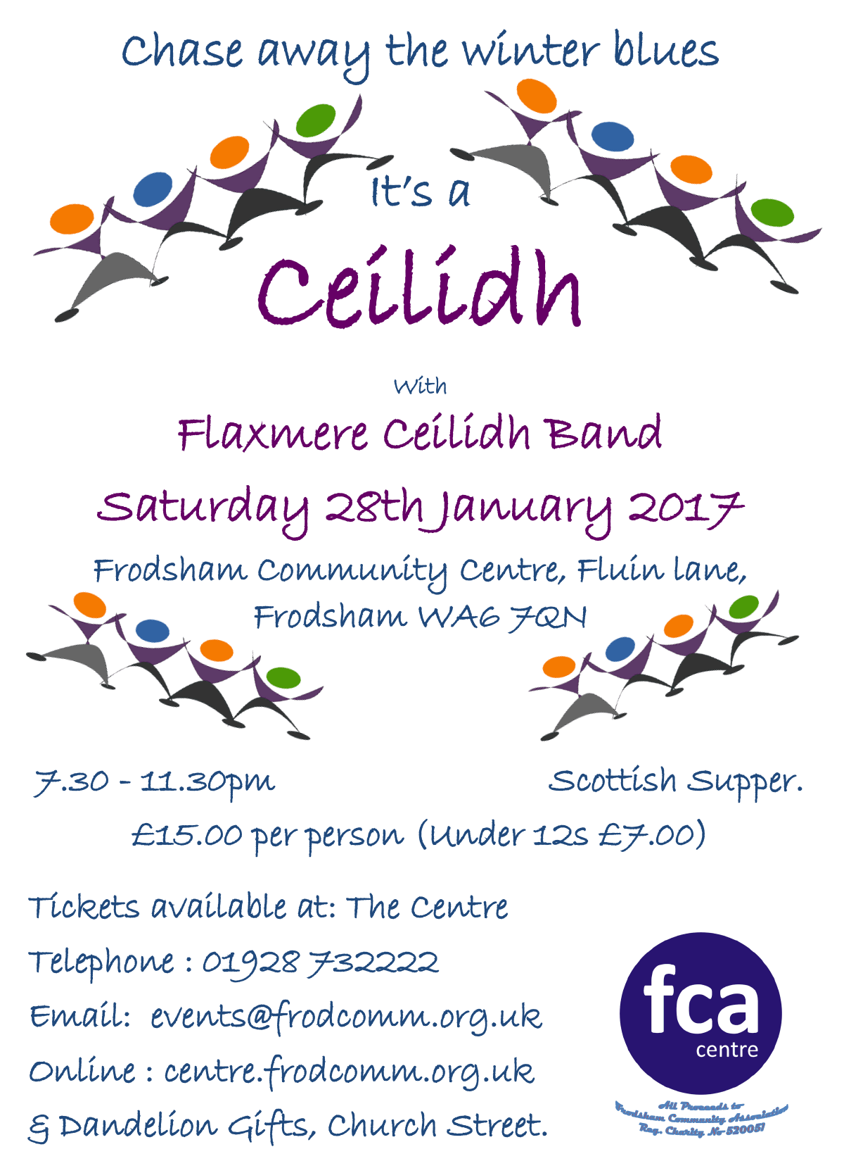 flaxmere ceilidh band poster jan 2017