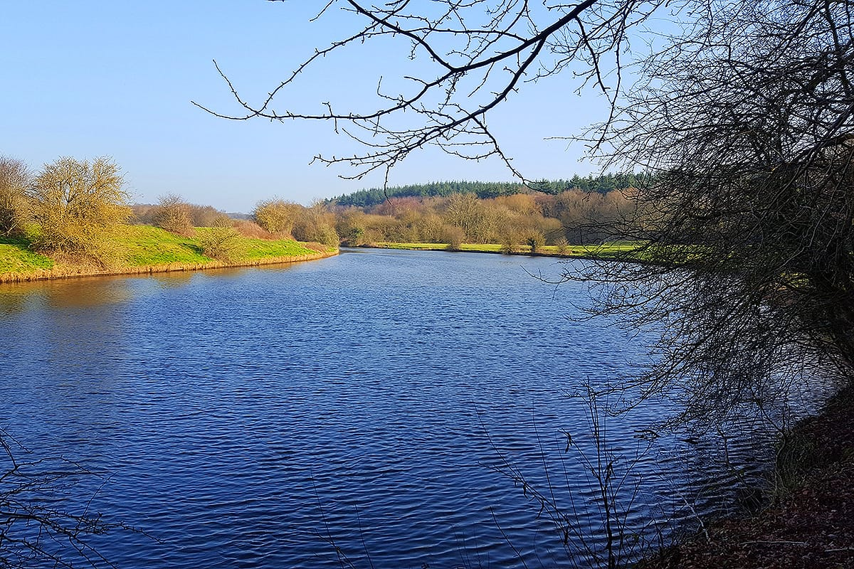 Looking out towards Pipe Chambers on the River Weaver