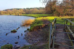 Weaver Way Gate footbridge warburtons wood