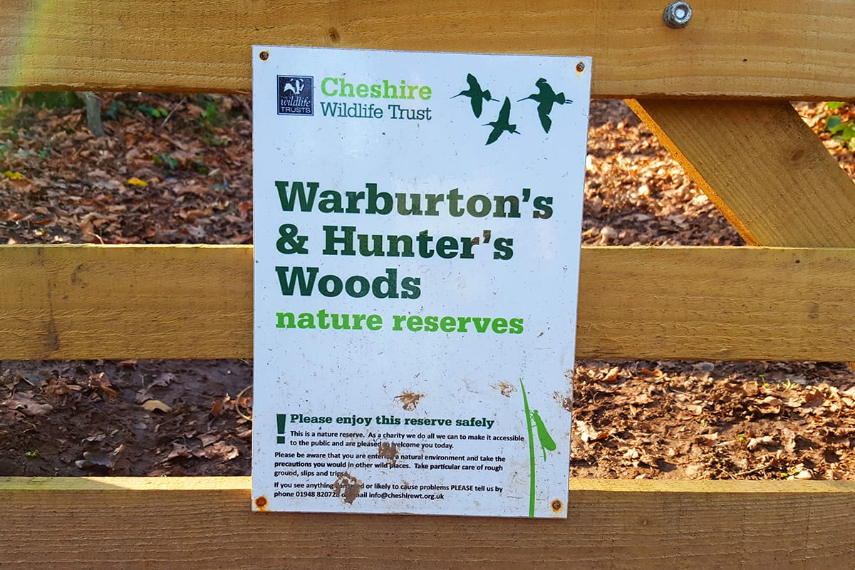 warburtons hunters wood nature reserve kingsley