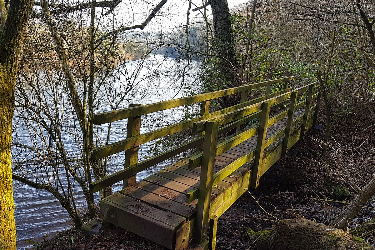 timber footbridge brine spring weaver way