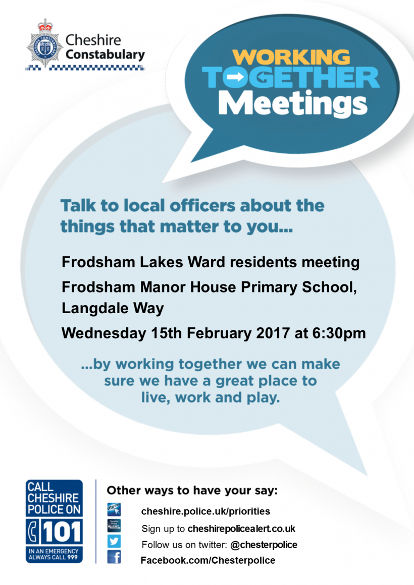 Working Together Meeting poster