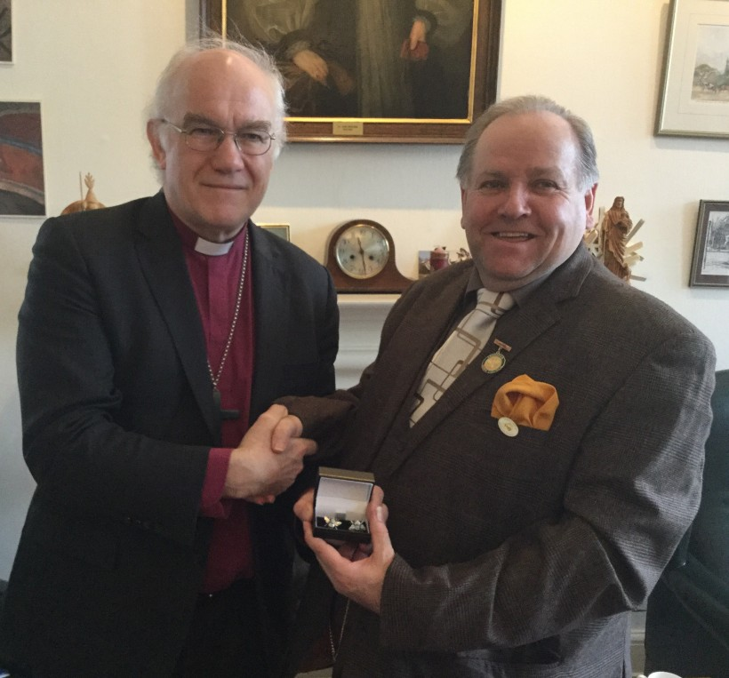 Photo of Bishop of Chester with Mayor