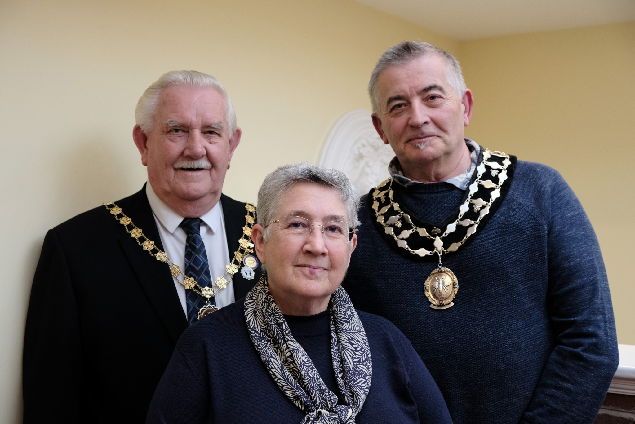 Photo of Mayor, deputy and Chair
