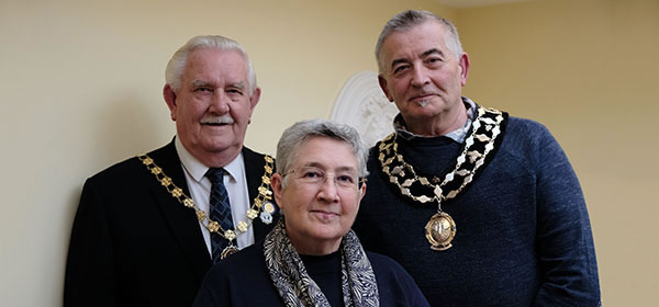 Frodsham town councillors frank pennington, judith critchley and alan oulton