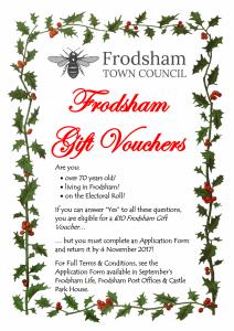 Flyer for Over 70s Christmas Gift Voucher