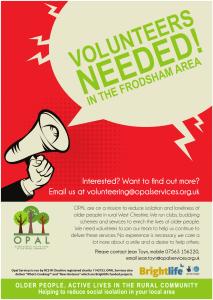 Volunteer recruitment poster