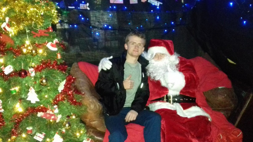 Cllr Jones meets Santa