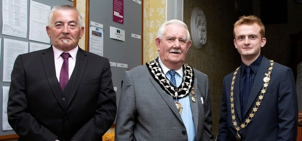 Frodsham town councillors frank pennington, liam jones and alan oulton