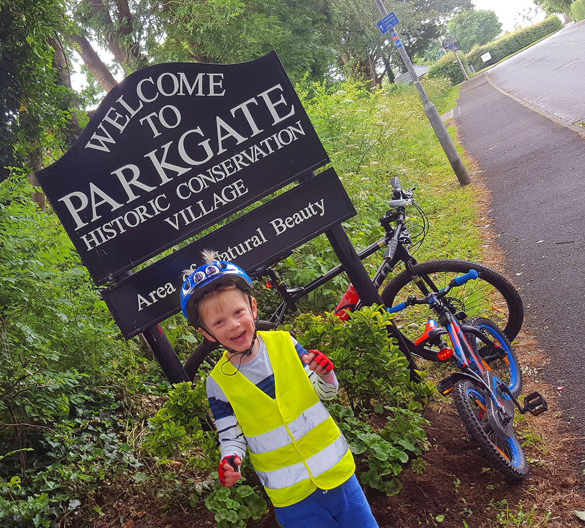 Parkgate welcome sign